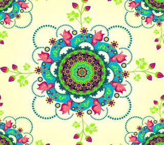 Обои на телефон лето, шаблон, цветы, цветочные, мандала, бабочки, абстрактные