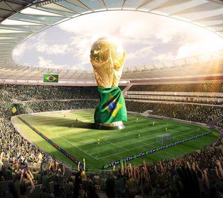 Обои на телефон чашка, спорт, мир, бразилия, brasil 2014