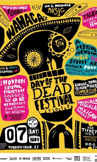 Обои на телефон фестиваль, мексика, улица, праздник, постер, напиток, мертвый, еда, день, вечеринка, арт, street festival, event, day of the dead, art