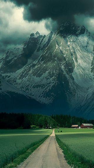 Обои на телефон ок, природа, небо, крутые, красота, зеленые, дорога, горы, вид