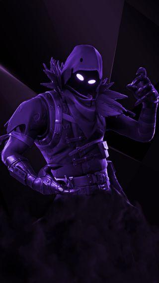 Обои на телефон черные, фортнайт, фиолетовые, темные, ворон, ramzej, one, man, fortnite raven