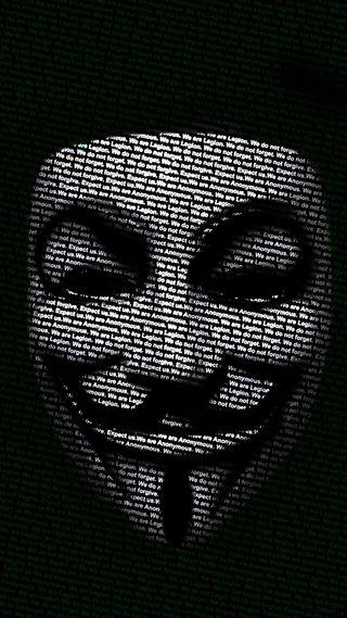 Обои на телефон хакер, анонимус