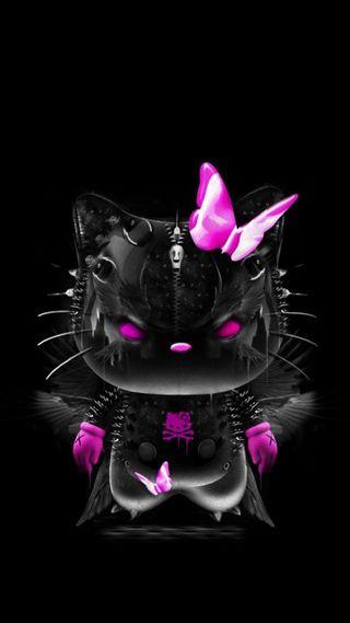 Обои на телефон привет, темные, котята, sdfs, hello kitty dark