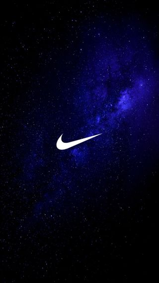 Обои на телефон найк, логотипы, космос, звезды, галактика, волны, бренды, nike, minima, galaxy