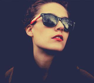 Обои на телефон солнечные очки, губы, милые, красые, девушки, red lips