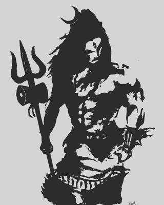 Обои на телефон махакал, шива, махадев, злые, бог, vectorart, rudra, angry shiva