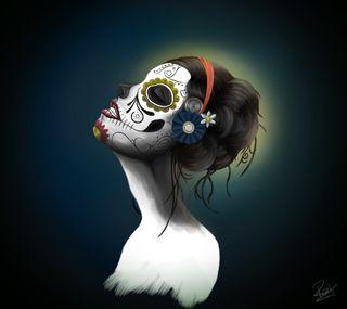 Обои на телефон череп, сахар, девушки, sugar skull, darkdroid