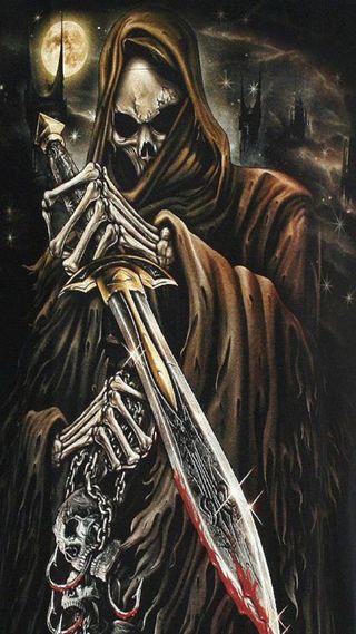 Обои на телефон жнец, темные, смерть, мрачные, меч, воин, dark warrior