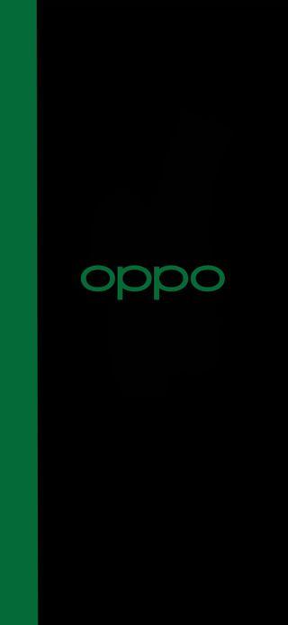 Обои на телефон черные, цветные, простые, логотипы, зеленые, грани, амолед, oppo reno, oppo, hd, color os, amoled