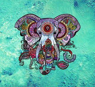 Обои на телефон индия, цветные, слон, медуза, мандала, красочные, индийские, бохо, блестящие, bohemian