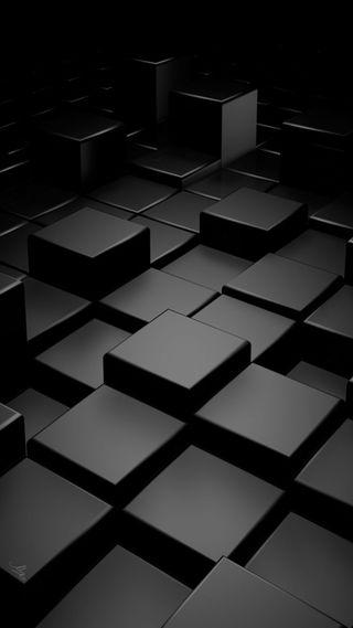 Обои на телефон кубы, черные