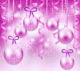 Обои на телефон шары, счастливое, розовые, рождество, векторные, абстрактные