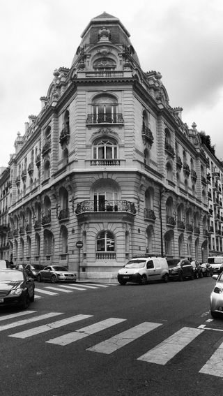 Обои на телефон архитектура, франция, пейзаж, париж, здания, город, paris building, blackwhite