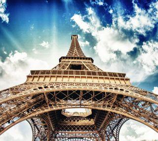 Обои на телефон эйфелева башня, франция, париж, небо, башня, tower eiffel