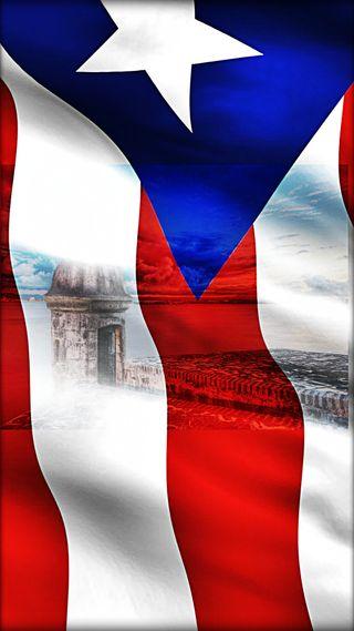 Обои на телефон флаги, синие, ми, красые, звезда, белые, st felipe, puerto rico, mi orgullo, el morro