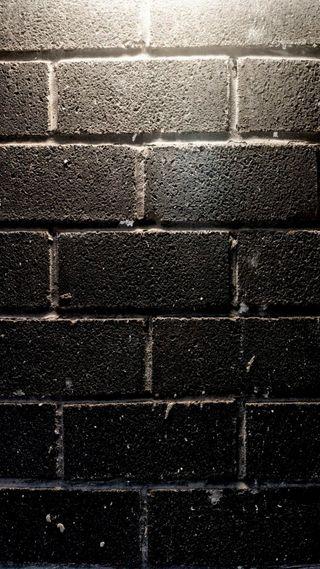 Обои на телефон кирпичи, черные, стена