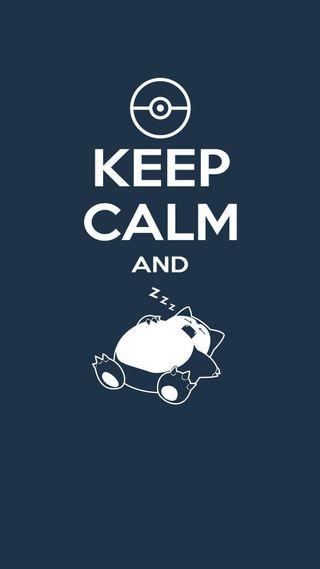 Обои на телефон спокойствие, сон, синие, покемоны, snorlax, keep calm pokemon