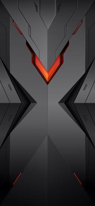Обои на телефон флаги, черные, неоновые, логотипы, крыло, красые, грани, бриллианты, андроид, hd, android