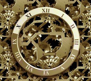 Обои на телефон механизм, часы, стальные, металл, время, clockwork