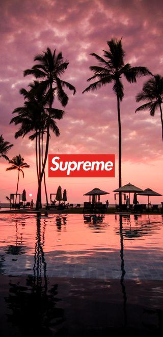 Обои на телефон река, пальмы, отпуск, облака, красые, закат, деревья, вода, swag, supreme, dope