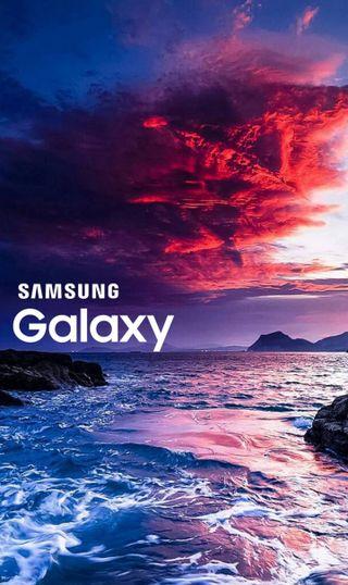 Обои на телефон море, самсунг, небо, галактика, samsung galaxy