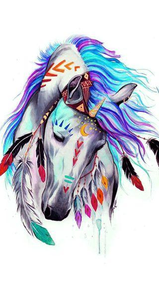 Обои на телефон перо, лошадь, арт, art