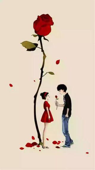 Обои на телефон милые, романтика, розы, прекрасные, пара, любовь, аниме, анимационные, love