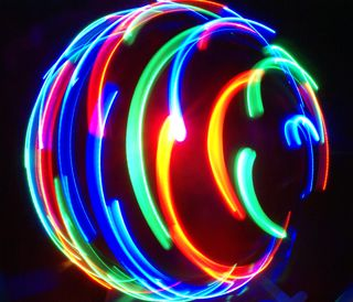 Обои на телефон размытые, флэш, свет, мяч, красочные, абстрактные, flash of light