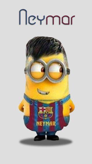 Обои на телефон неймар, я, футбольные, мультфильмы, миньоны, забавные, neymar-minion, drawns