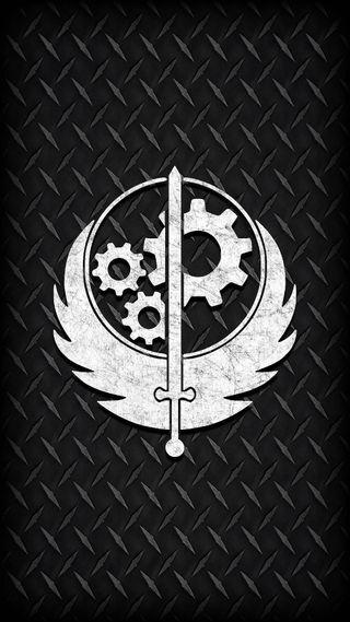 Обои на телефон шестерни, фоллаут, механизм, стальные, сони, меч, металл, крылья, xbox 360, xbox, sony playstation, sony, playsation, faction, botherhood of steel, bortherhood, 360