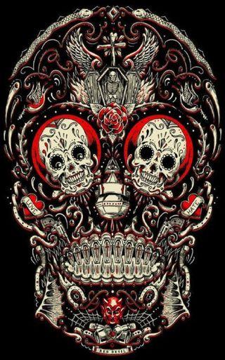 Обои на телефон сахар, череп, xcellent sugar skull, sugar skull