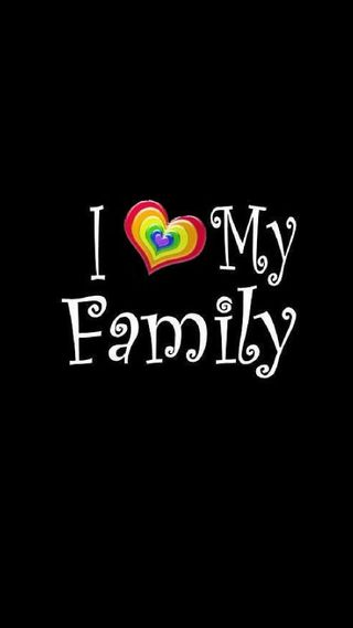 Обои на телефон семья, сердце, радуга, мой, любовь, love, i love my family