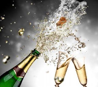 Обои на телефон шампанское, очки, счастливые, новый, брызги, happy, 2014