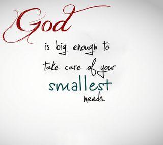 Обои на телефон цитата, поговорка, новый, крутые, бог, smallest, needs, enough, big