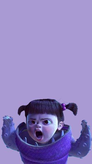 Обои на телефон анимация, фиолетовые, мультфильмы, монстры, девушки, восхитительные, бу, monster, inc, gatitio