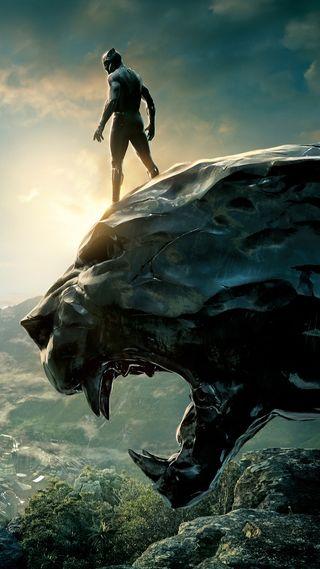 Обои на телефон пантера, черные, статуя, животные