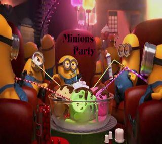 Обои на телефон вечеринка, приятные, новый, миньоны, милые, крутые, комедия, забавные, гадкий, party minions, hd, 2014