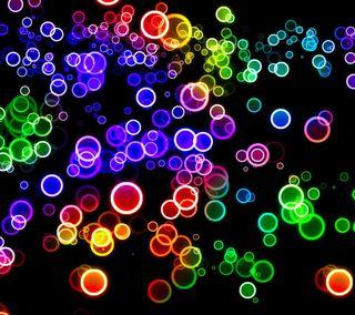 Обои на телефон шары, цветные, пузыри, радуга, круги, красочные, боке, colorful circles