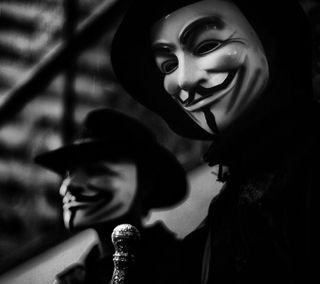 Обои на телефон шляпа, мы, анонимус, маска, we are anonymous