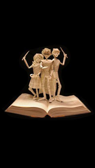 Обои на телефон история, фильмы, поттер, магия, книга, гарри, бумага, origami, i5