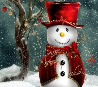 Обои на телефон снег, санта, рождество, приятные, праздник, новый, зима, snow man, christmas snow man