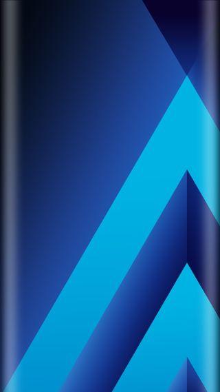 Обои на телефон стиль, синие, самсунг, грани, галактика, абстрактные, samsung, galaxy a5, edge style, 2017
