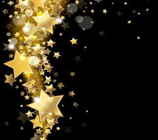Обои на телефон векторные, золотые, звезды, блестящие, абстрактные, pattermgold