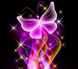 Обои на телефон бабочки, неоновые, красочные, абстрактные, neon colorful