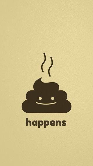 Обои на телефон beige, happens, hd, this happens, простые, рисунки, фан, коричневые, иллюстрации