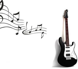 Обои на телефон гитара, стена