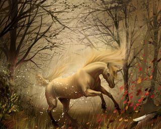 Обои на телефон единорог, лошадь, арт, fatnasy, art