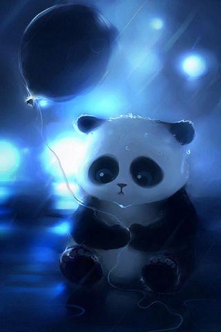 Обои на телефон шары, счастливые, синие, пушистые, панда, милые, грустные, аниме, i4, happy