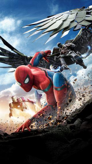 Обои на телефон паук, возвращение домой, spider man homecoming, spider man