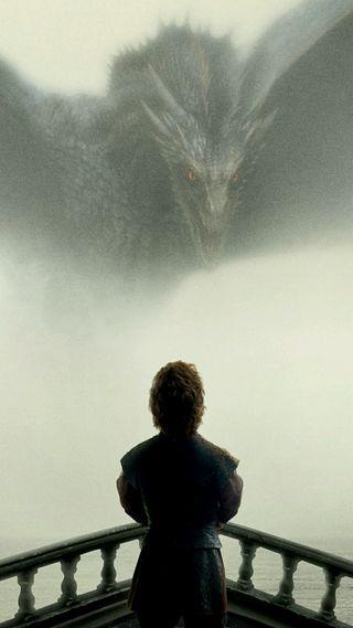 Обои на телефон престолы, тв, игра, дракон, dragon